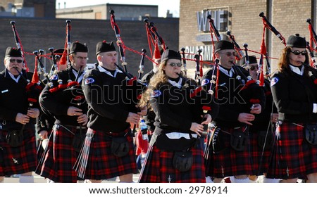 Pipes and drums - stock photo