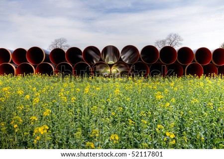 Pipes for gas pipeline