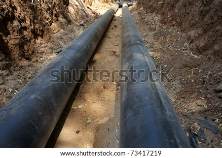 Pipes  gas-pipeline  process  building - stock photo