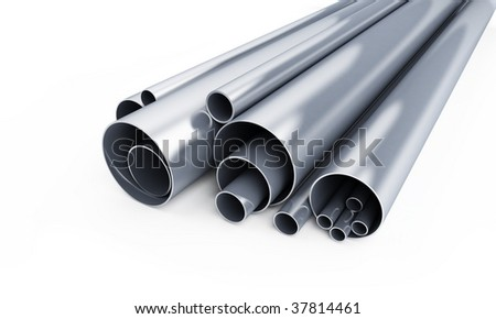 pipes isolated - stock photo