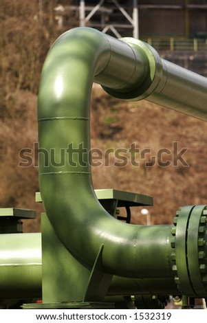 pipes of a power station