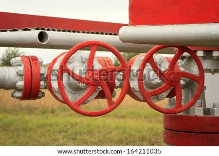 piping as found inside of industrial power plant - stock photo
