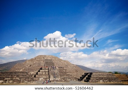 Piramide de la Luna, Teotihuacan, Mexico - stock photo