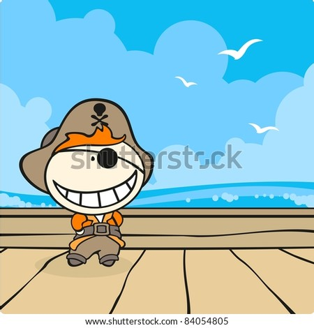 Pirate captain (raster version)