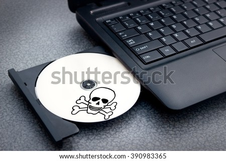 Pirated software is ready for use - stock photo