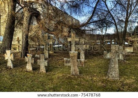 Pirita Convent Cemetery - stock photo