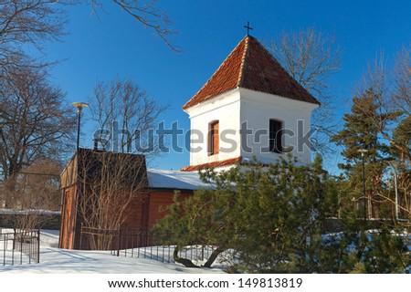 Pirita Convent entrance tower. Tallinn, Estonia - stock photo