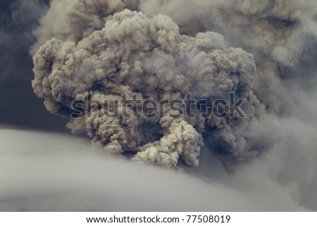 piroclastic explosion over Tungurahua volcano, May ,2011 Ecuador - stock photo
