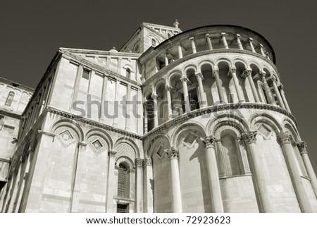 Pisa Duomo, entitled to Santa Maria Assunta (St. Mary of the Assumption). Pisa, Italy. - stock photo