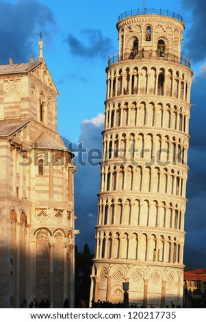 Pisa, Italy - Leaning tower - stock photo