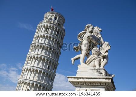 Pisa's tower - stock photo