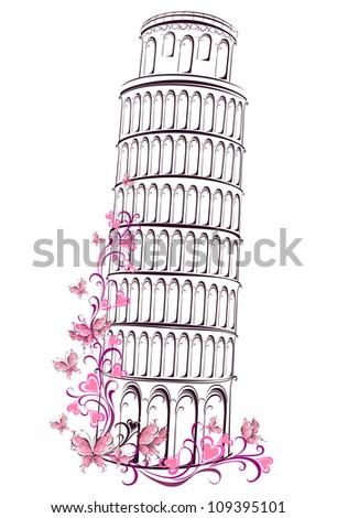 Pisa tower, Italy - stock photo