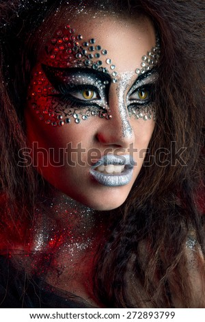Pisces Beauty Fashion Glamour Girl Portrait  - stock photo