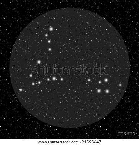 Pisces Zodiac Constellation - stock photo