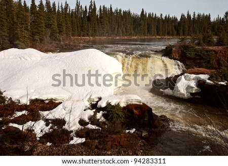 Pisew Falls in Northern Manitoba