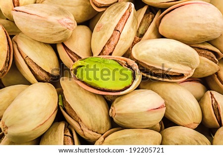 Pistachio . image collected from a few photos for larger areas of focus - stock photo