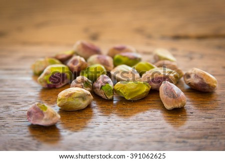 pistachio nuts without their shells