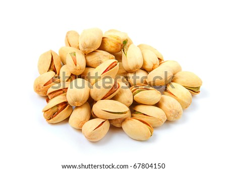 Pistachioes isolated