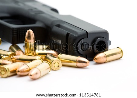 pistol - stock photo