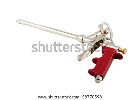 Pistol for building foam isolated on a white background