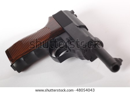 pistol gun on white background