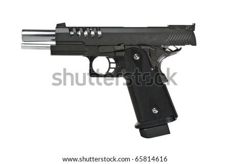 Pistol, isolated, no tm - stock photo