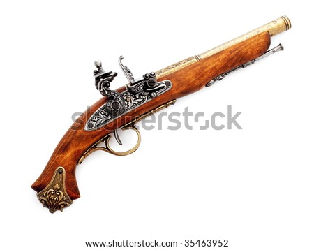 Pistol,isolated on a white background