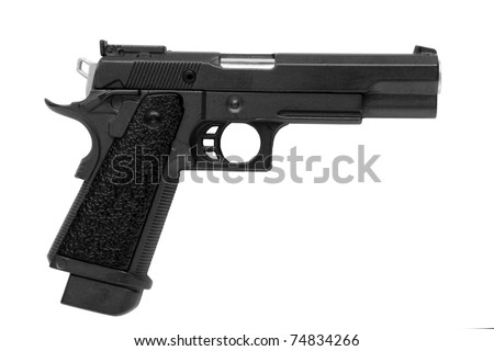 Pistol isolated on a white background - stock photo