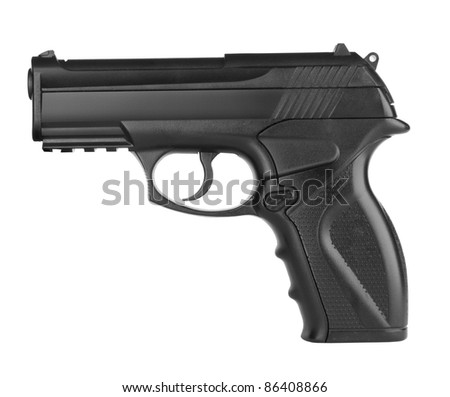 Pistol isolated on a white background