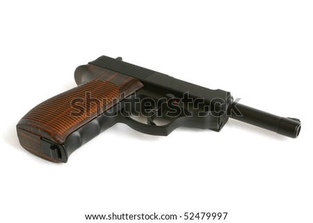 Pistol on a white background - stock photo