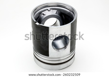 Piston upside down on the white background