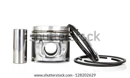 Pistons isolated on white - stock photo