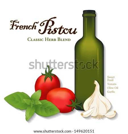 French Provencal herb sauce for soup, pasta, vegetables. Sweet Basil ...