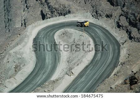 pit iron ore mining - stock photo