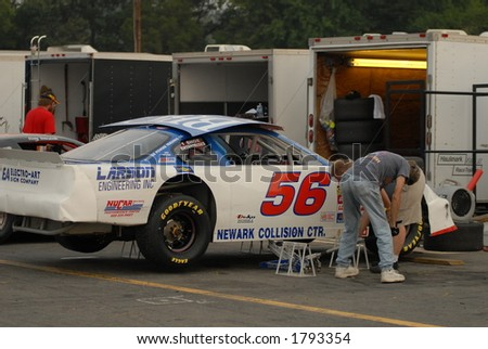 Pit Stop - stock photo