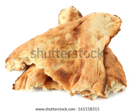 Pita breads isolated on white