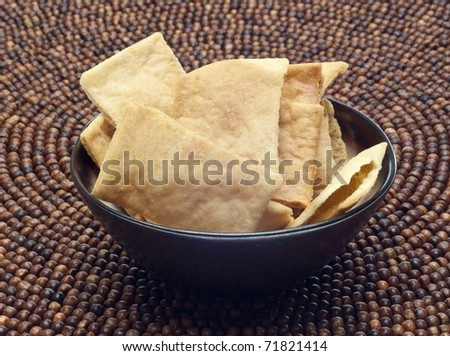 Pita Chip Snack Healthy Low Calorie Option.