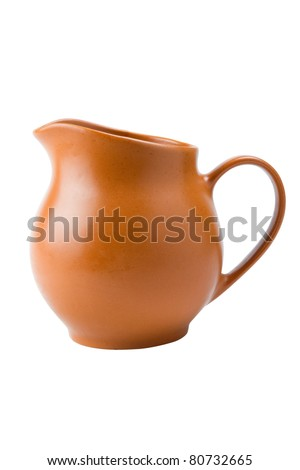 pitcher for milk and drinks - stock photo