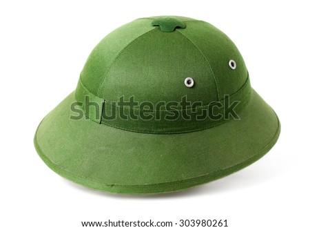 Pith helmet isolated on white background - stock photo