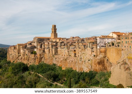 Pitigliano, known as La Piccola Gerusalemme or Little Jerusalem. One of the old towns in province of Grosseto, Italy