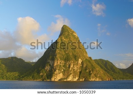 Pitons mountain-st.Lucia-caribbean