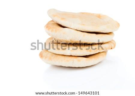 pitta bread (Lebanese Bread) - stock photo