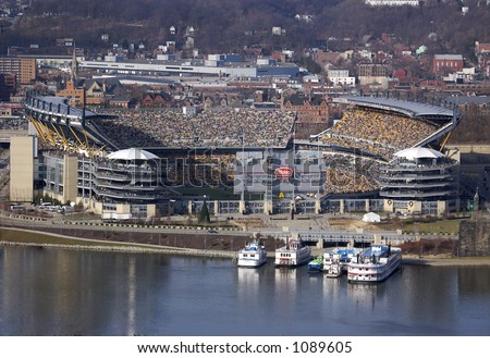 Pittsburgh Football Stadium with Game Playing