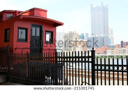Pittsburgh Rail Train - stock photo