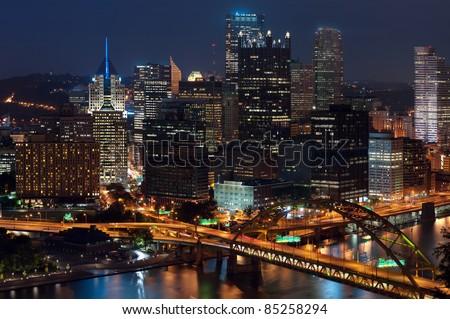 Pittsburgh skyline. - stock photo