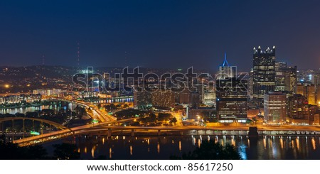 Pittsburgh skyline.