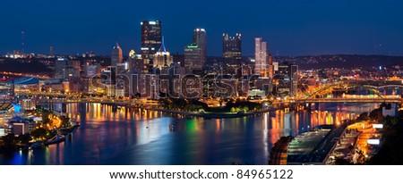 Pittsburgh skyline panorama. - stock photo