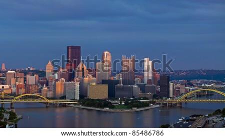 Pittsburgh skyline panorama - stock photo