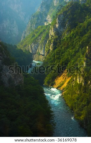 Piva (montenegrian river) view #3