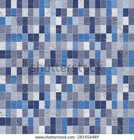 pixel art background - stock photo